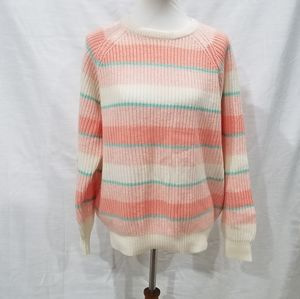 Vintage Contemporary Casuals Pink Striped Sweater